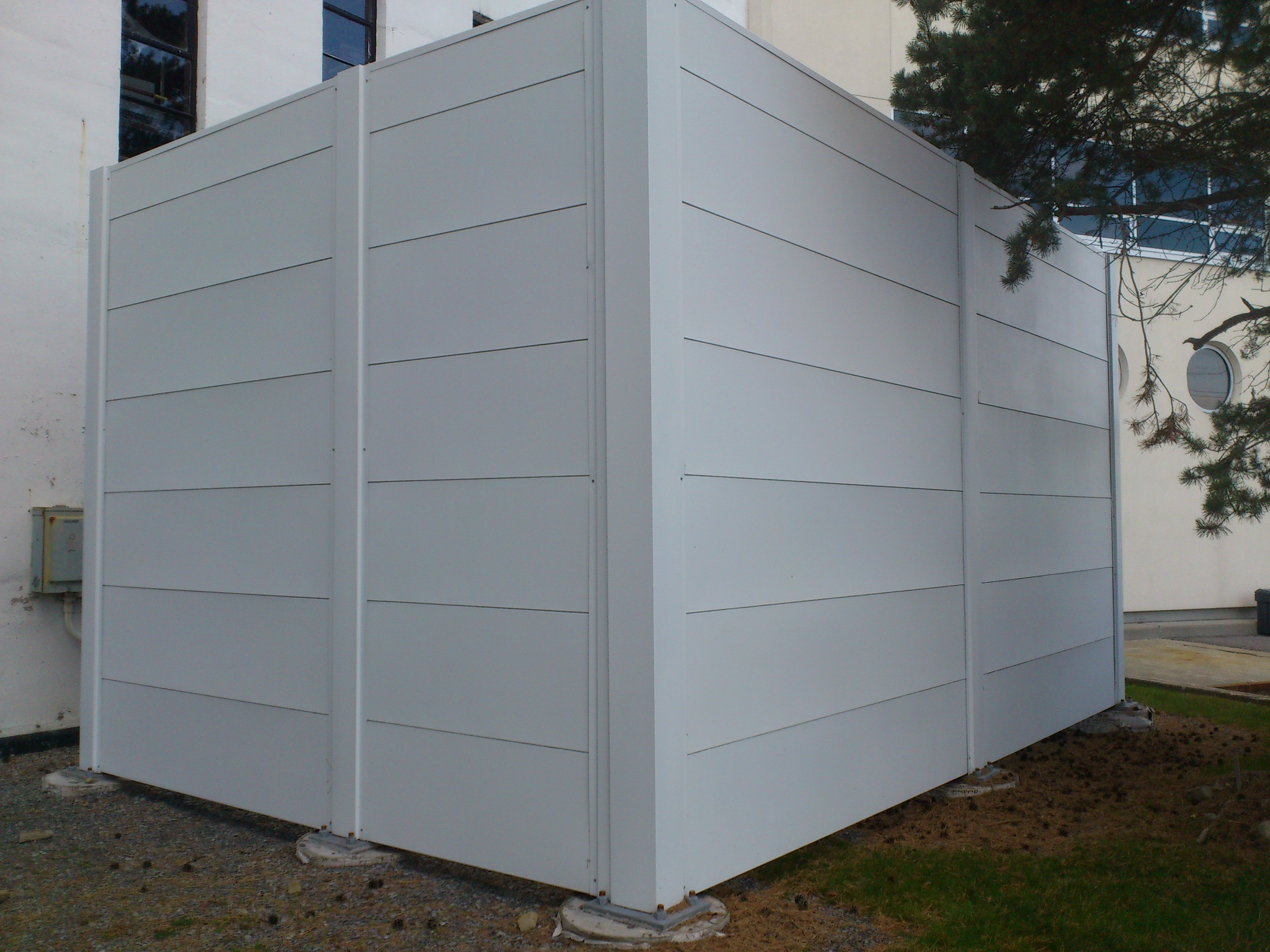 Chiller Unit Noise Barrier Wall Enclosure - Noise Wall